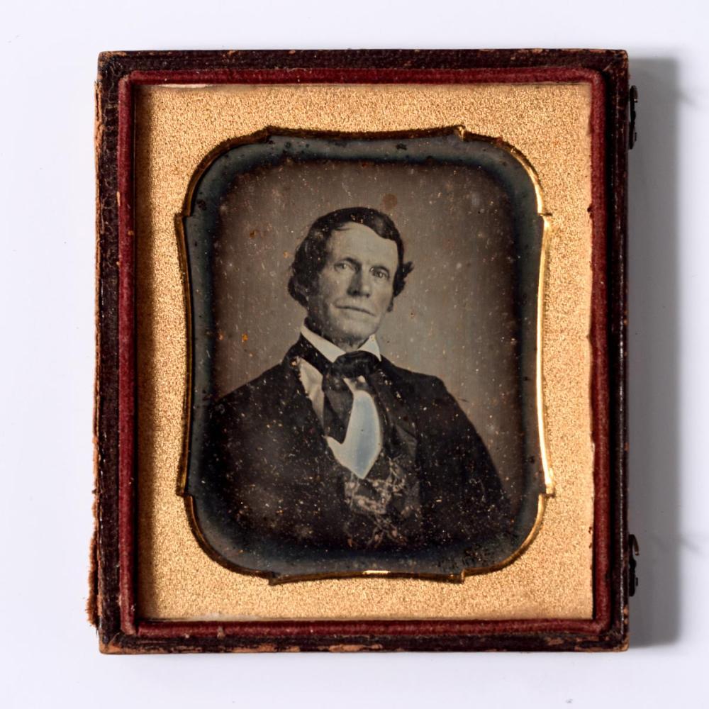 Early 1850s posed man daguerreotype