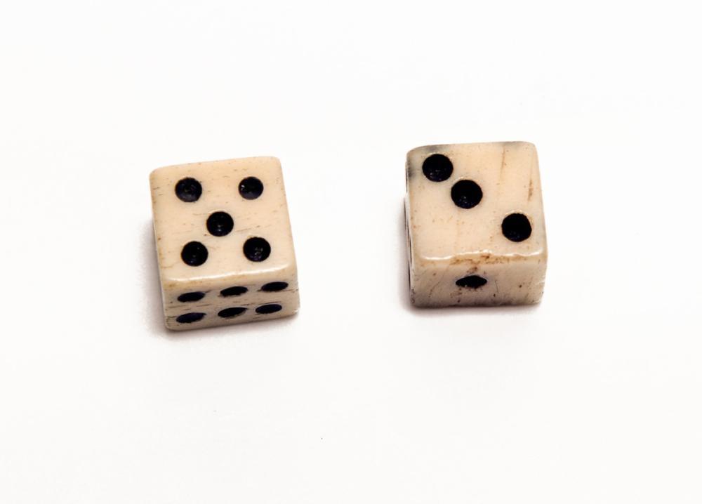 Civil War dice, quarter inch