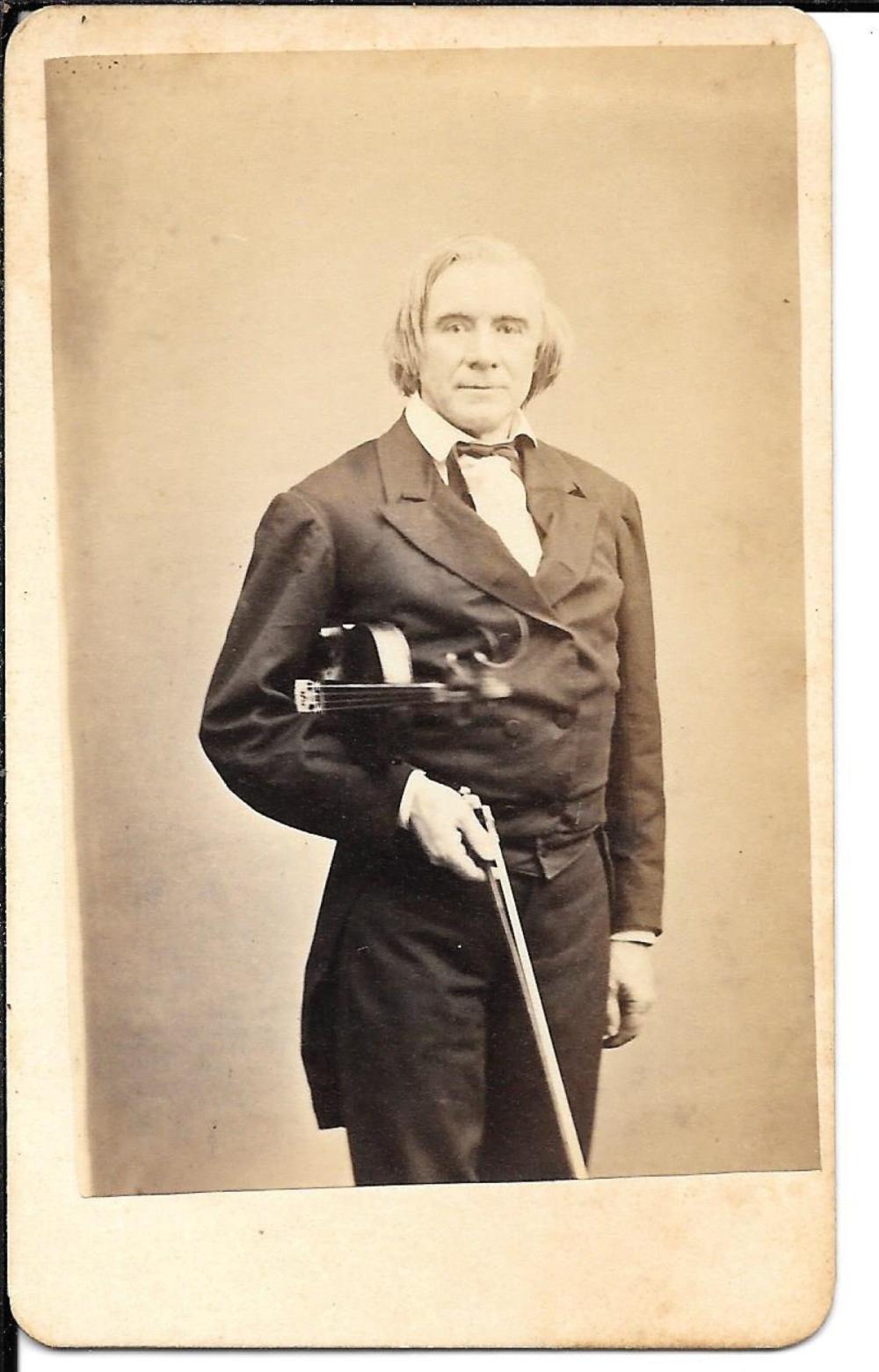 Concert violinist, 1870s CDV