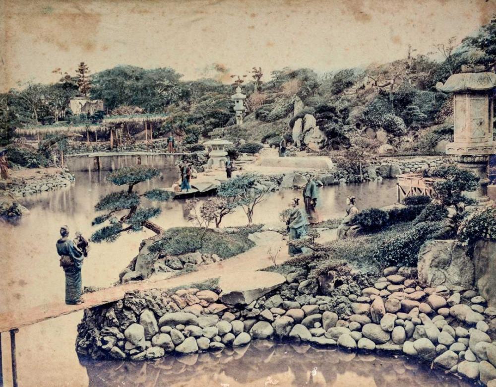 1890s Japanese hand-colored albumen