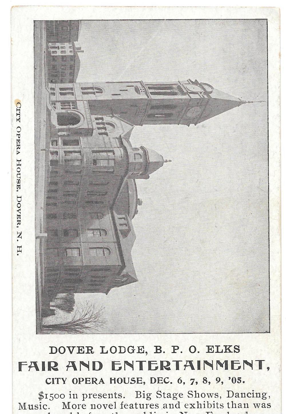 1905 Elks Fair, Dover Opera House