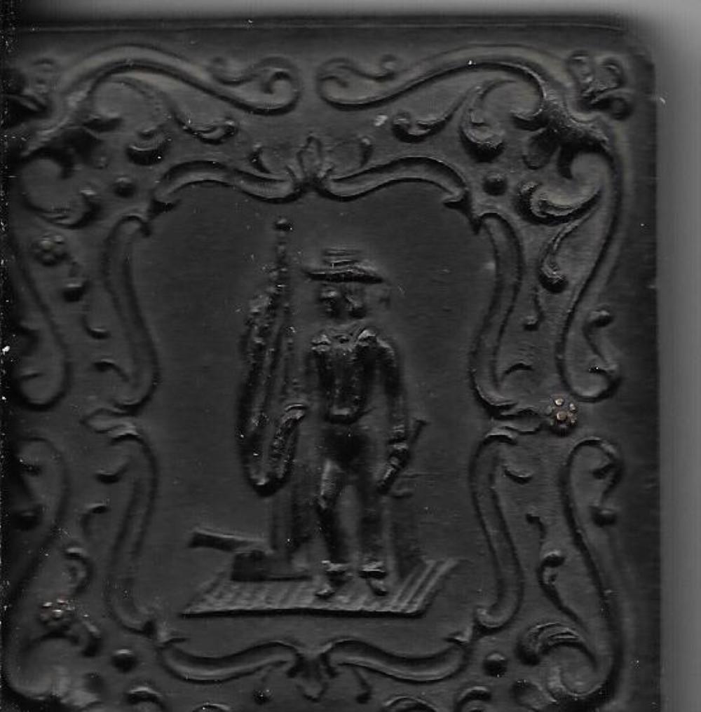 Rare Civil War naval gutta percha case