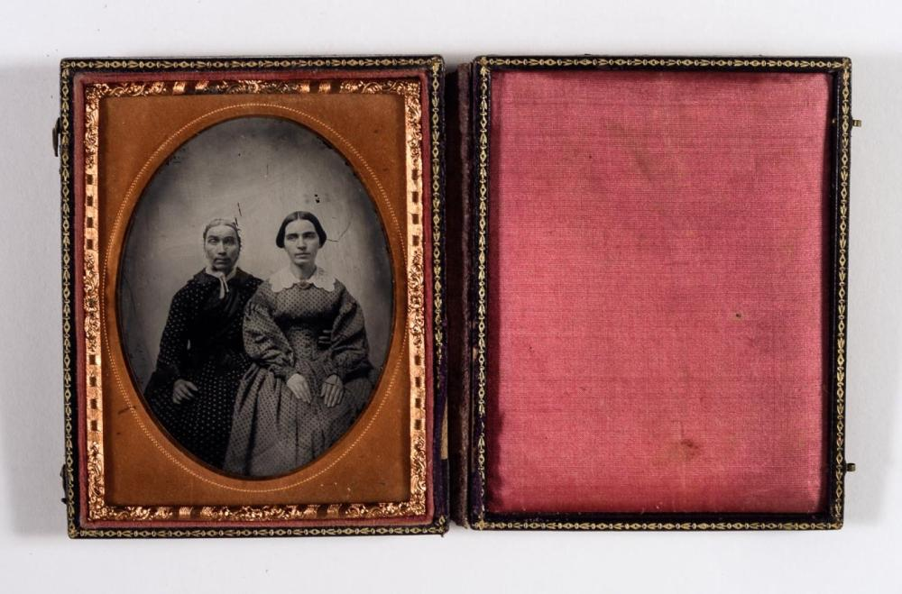 Mother, daughter, quarter plate ambrotype