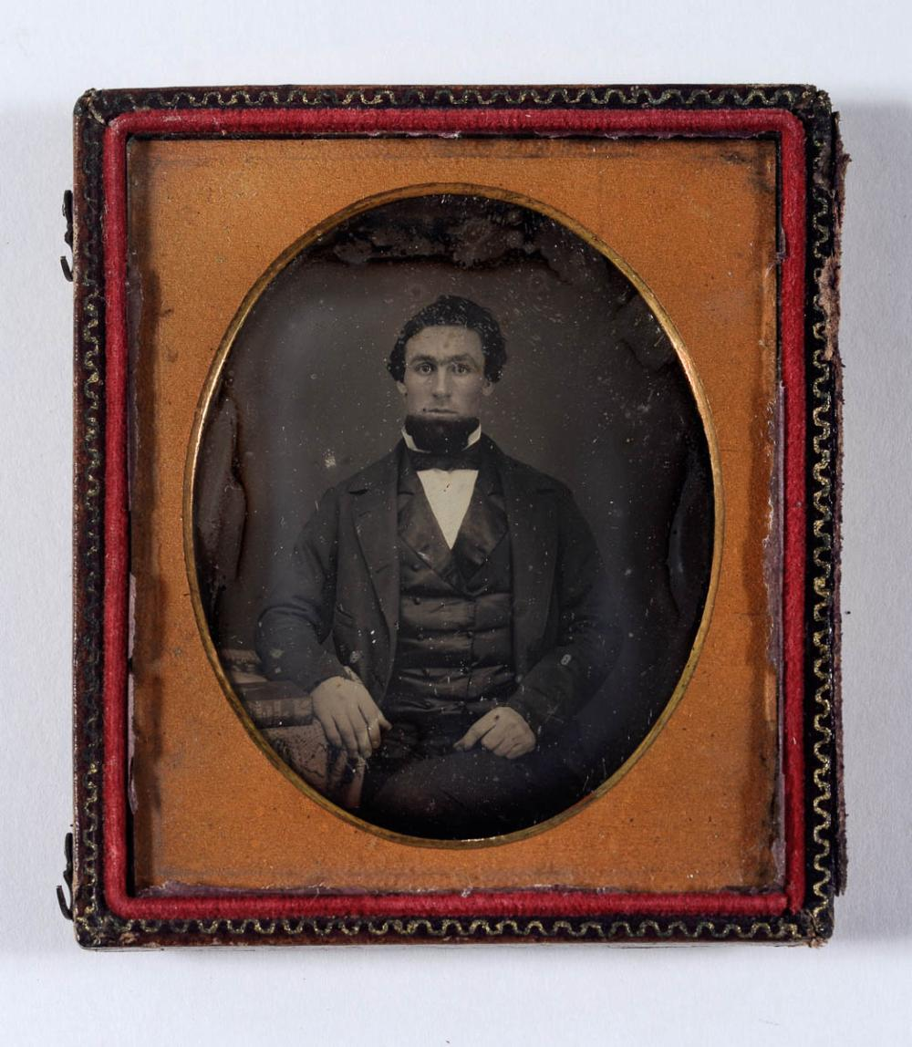 Scholarly young man, daguerreotype