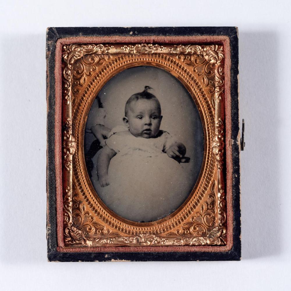 Hidden mother ruby ambrotype