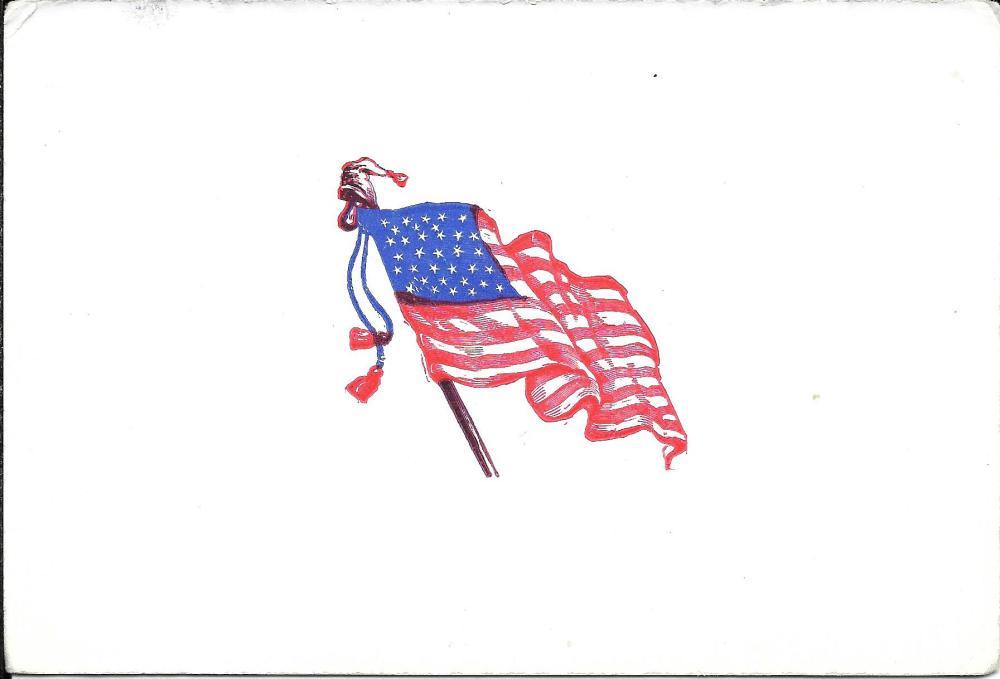 Civil War 34 star flag blotter