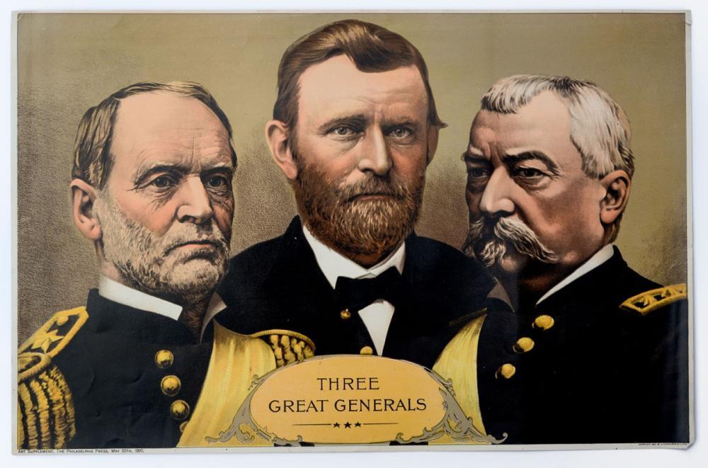 Three Great Generals, chromolithograph, 1897