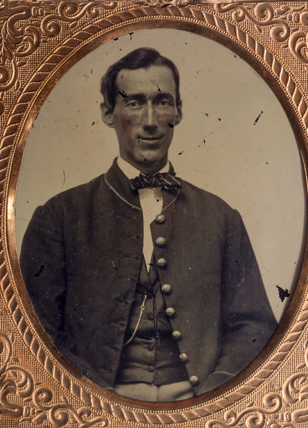 Confederate soldier, tinted ambrotype