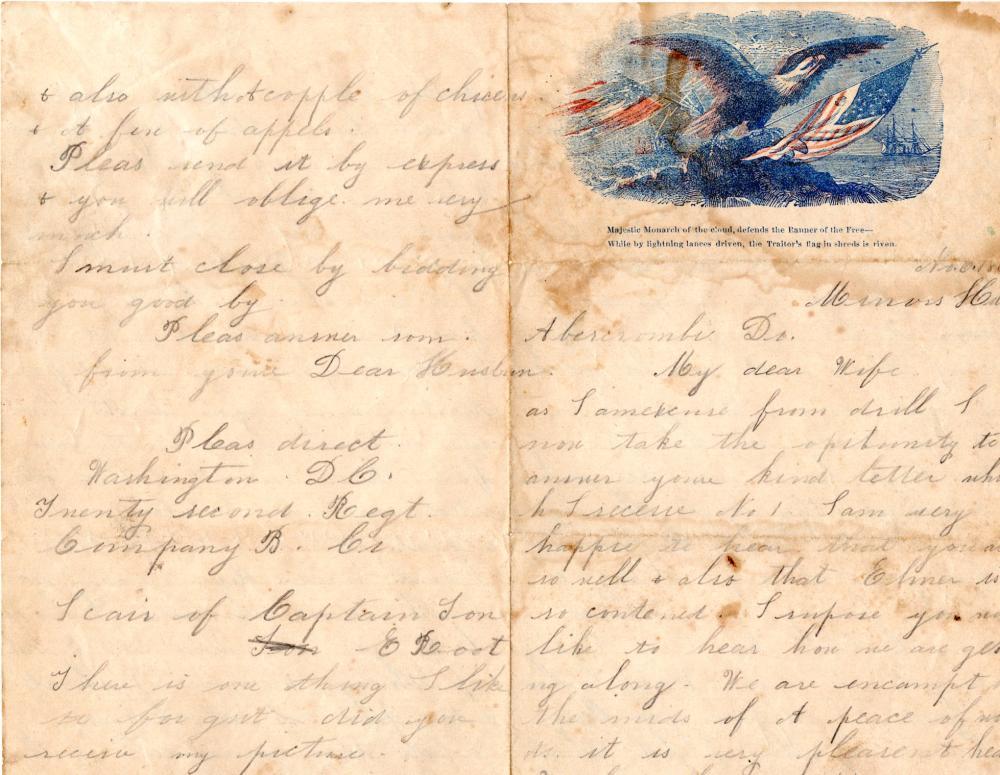 1862 post-Manassas Civil War letter
