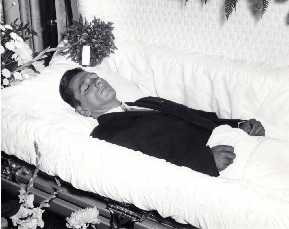 1950s post mortem casket photos