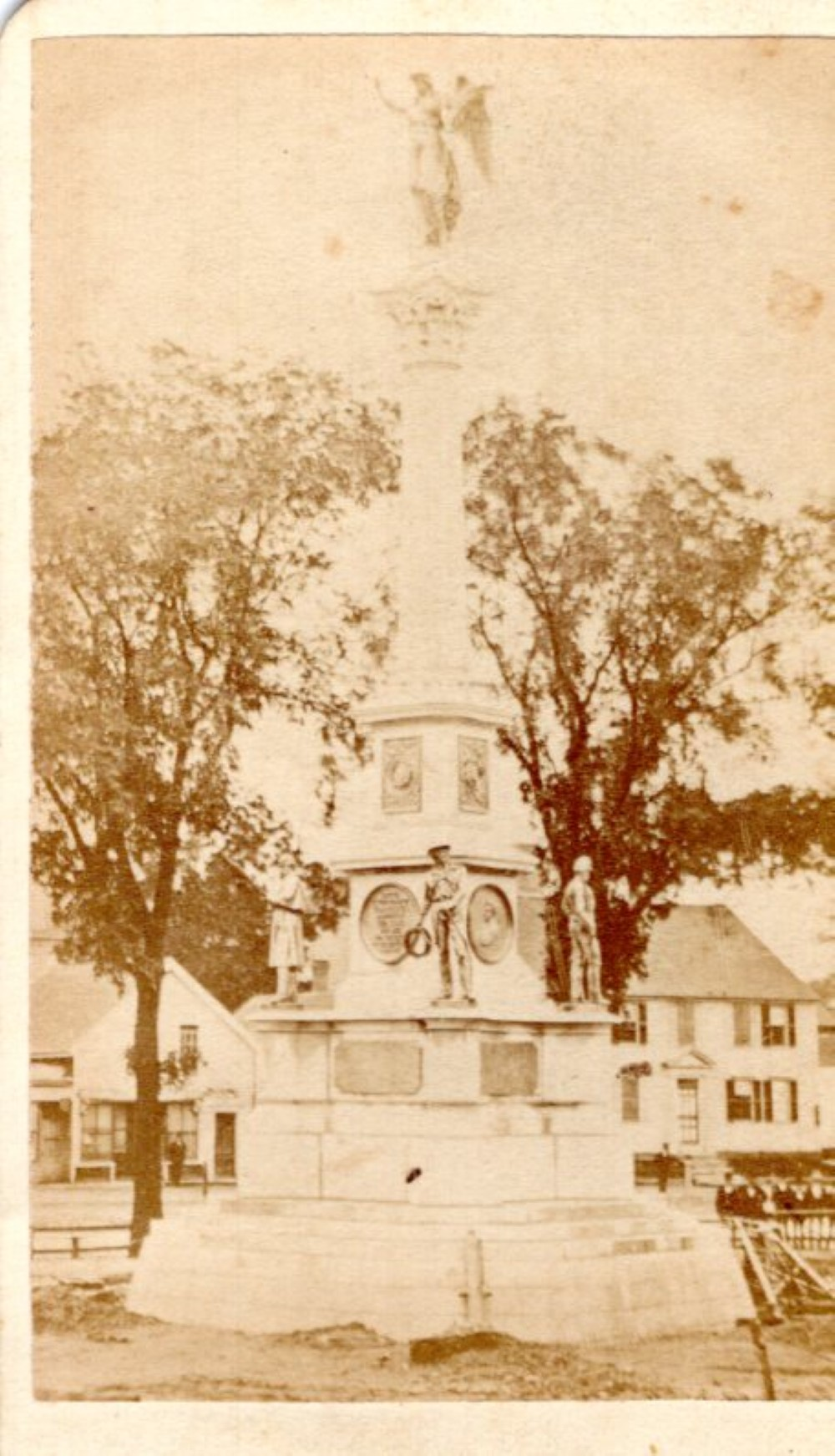 Worcester Soldier's monument, 1870s CDV