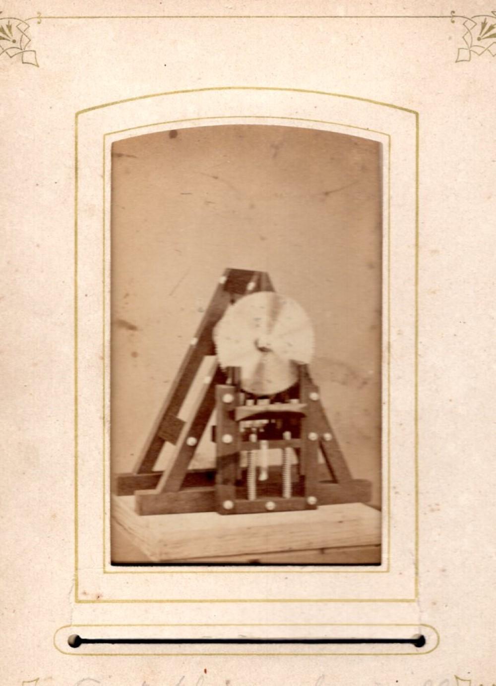 1860s newly invented shingle saw, uncommon CDV