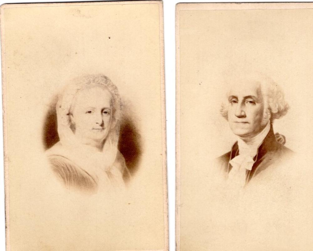 George and Martha Washington CDVs