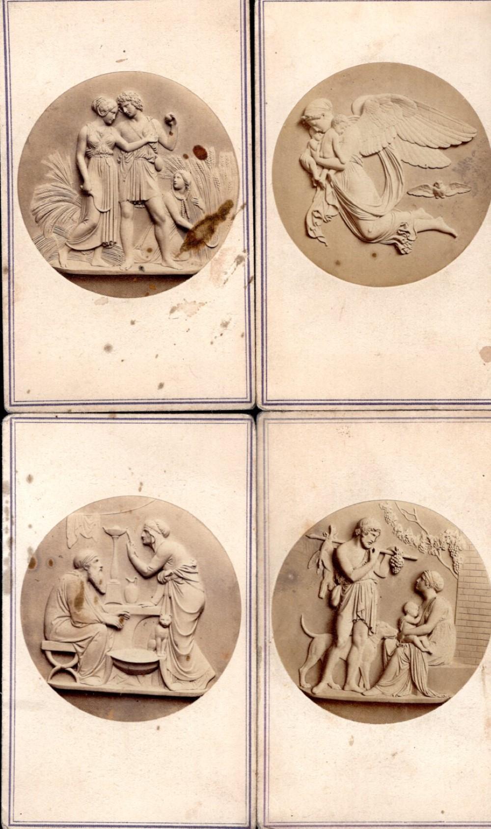 Four bas relief artwork CDVs