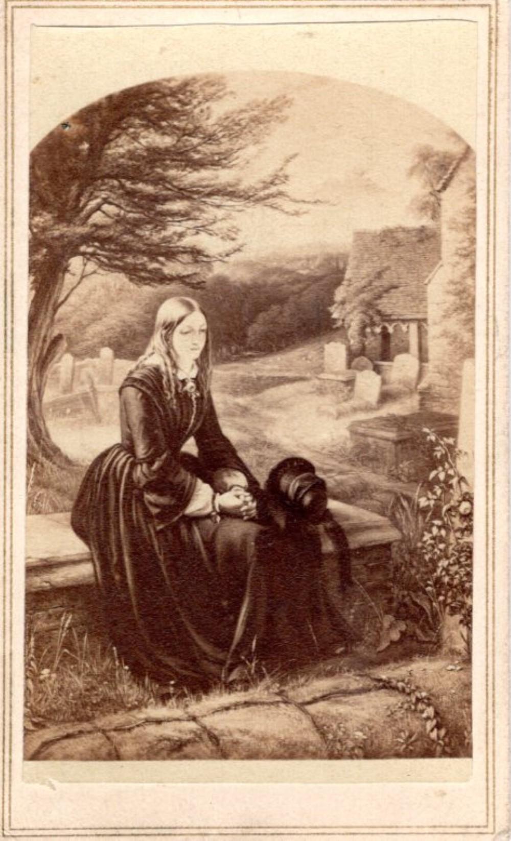 Sister's Grave, mourning CDV