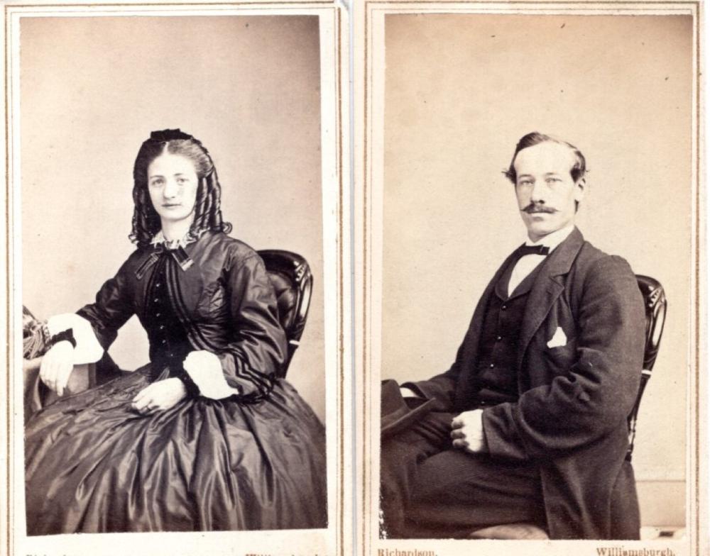 Williamsburgh, Brooklyn CDVs of husband and wife