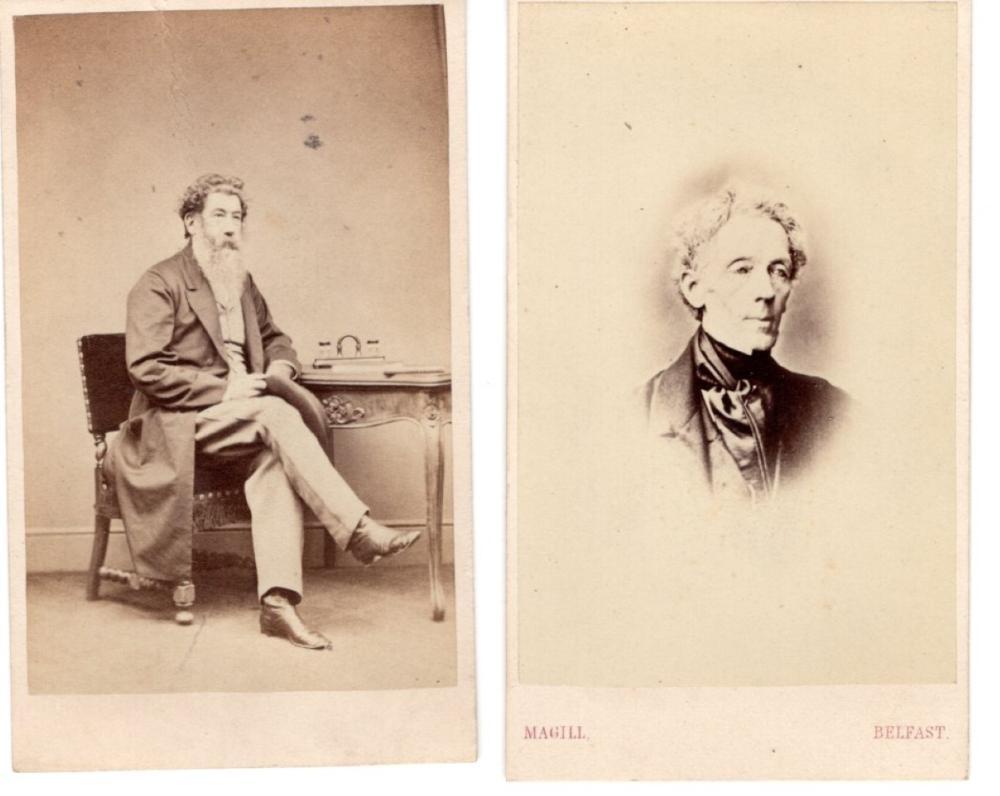 Irish scholars in period fashion,1870  CDVs