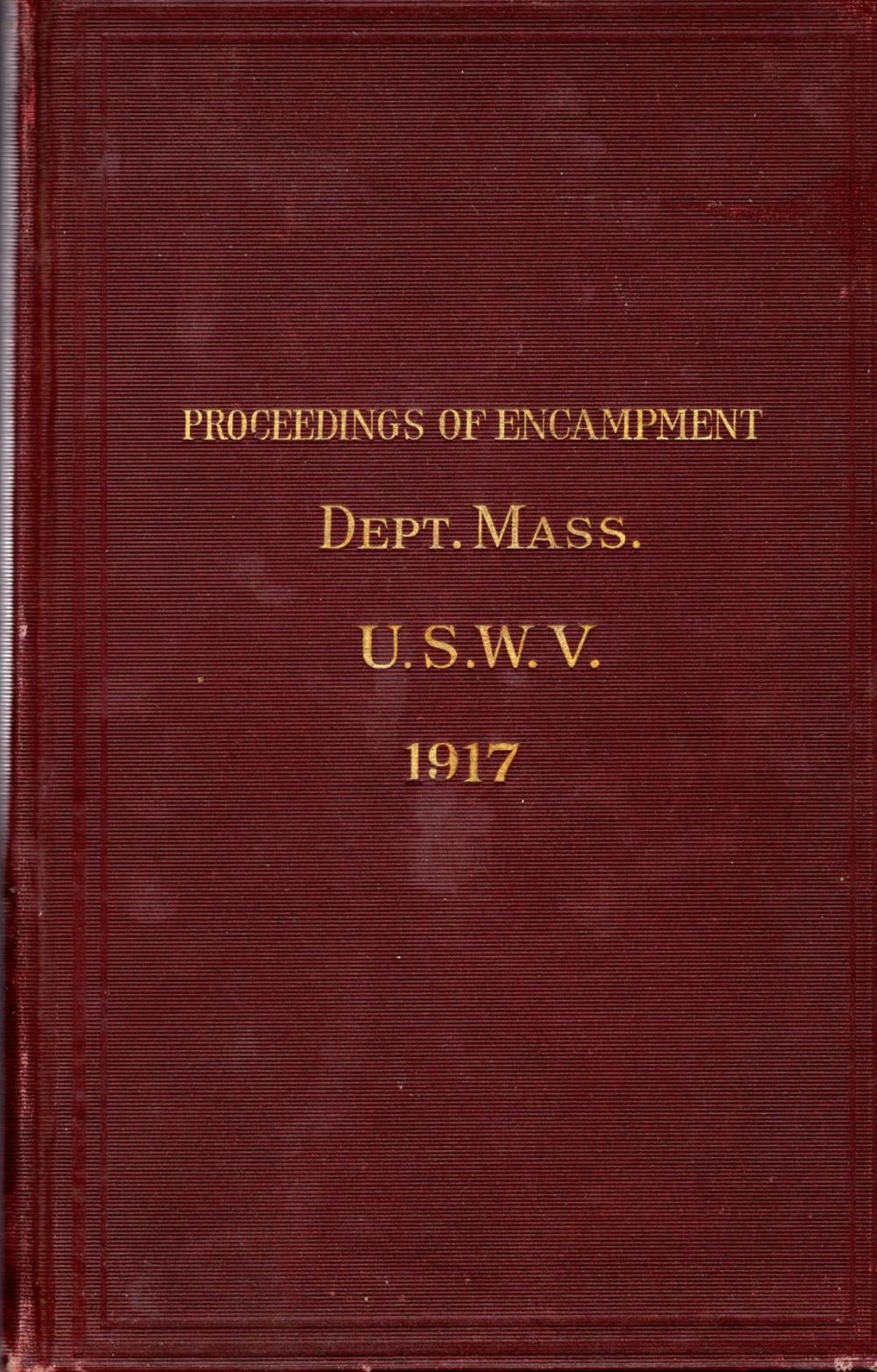 Spanish American War reunion report, 1917