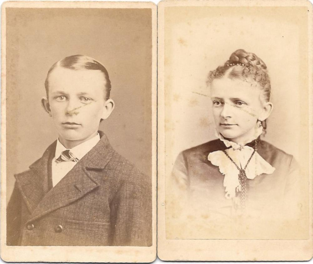Pair of uncommon Josiah Freeman Nantucket photographs, 1880s