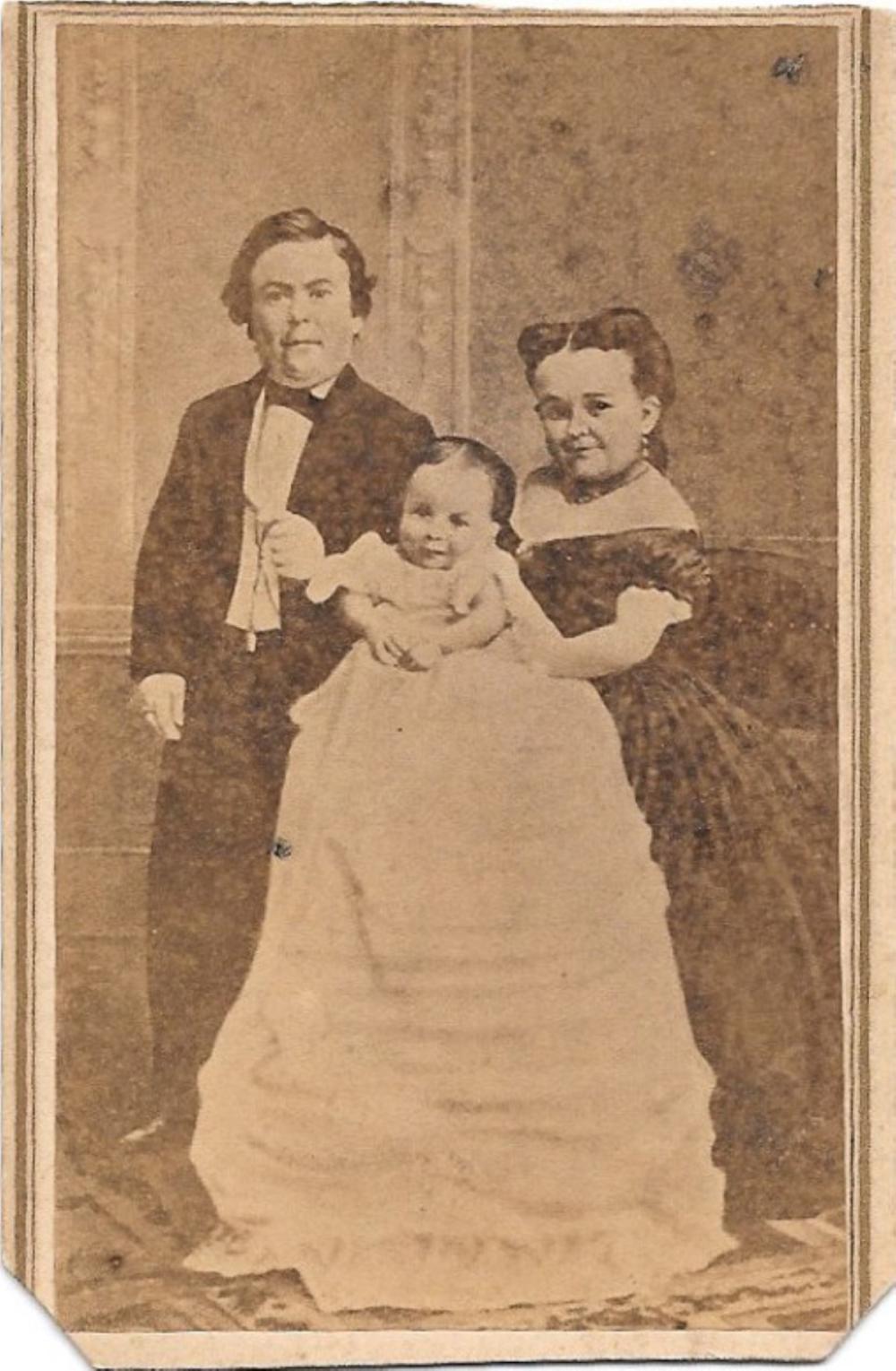 General Tom Thumb and family, PT Barnum CDV