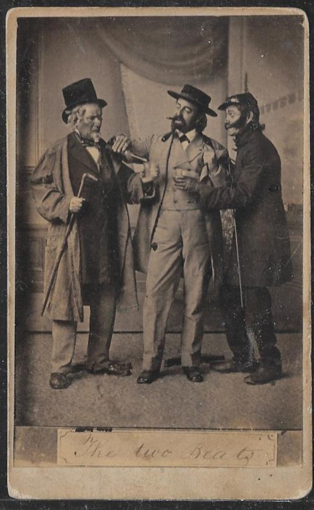 The Two Beats, CDV of three ruffian actors