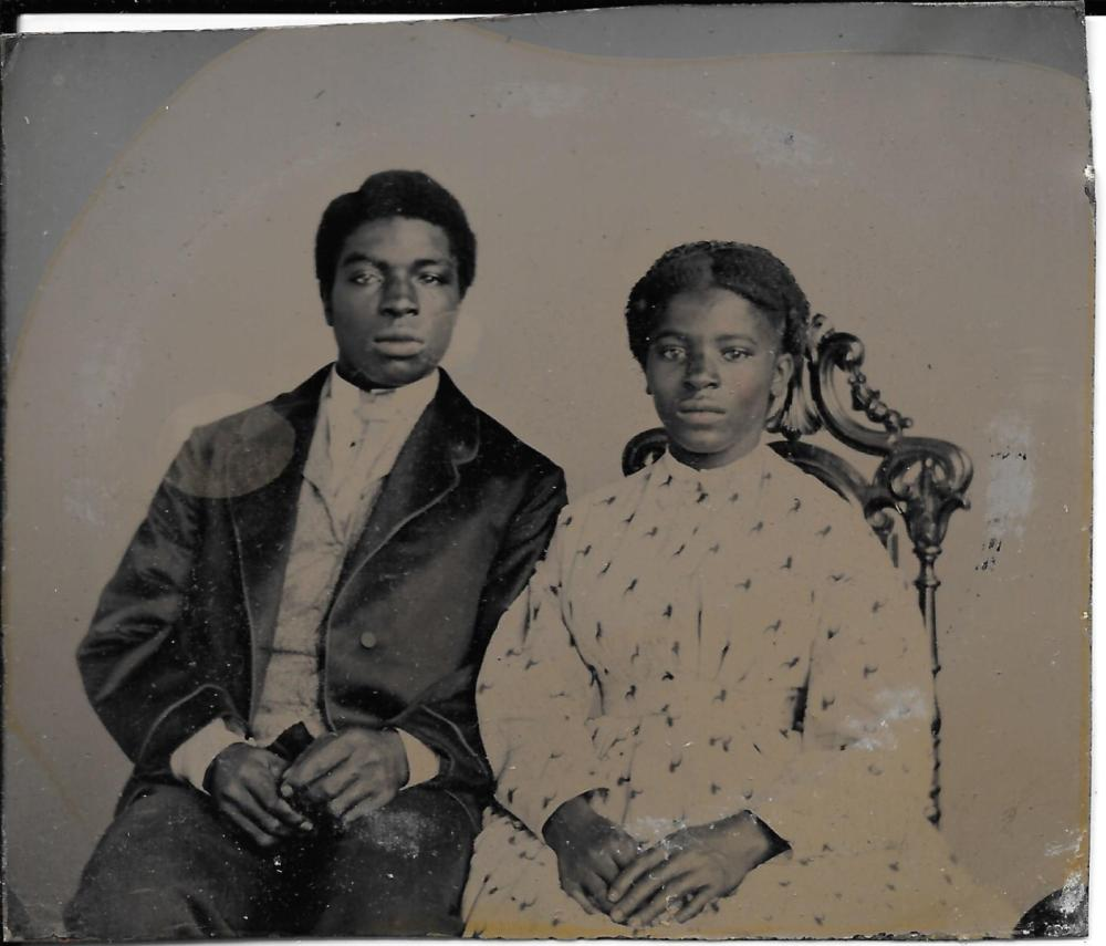 Circa 1859 ambrotype of African American house servants
