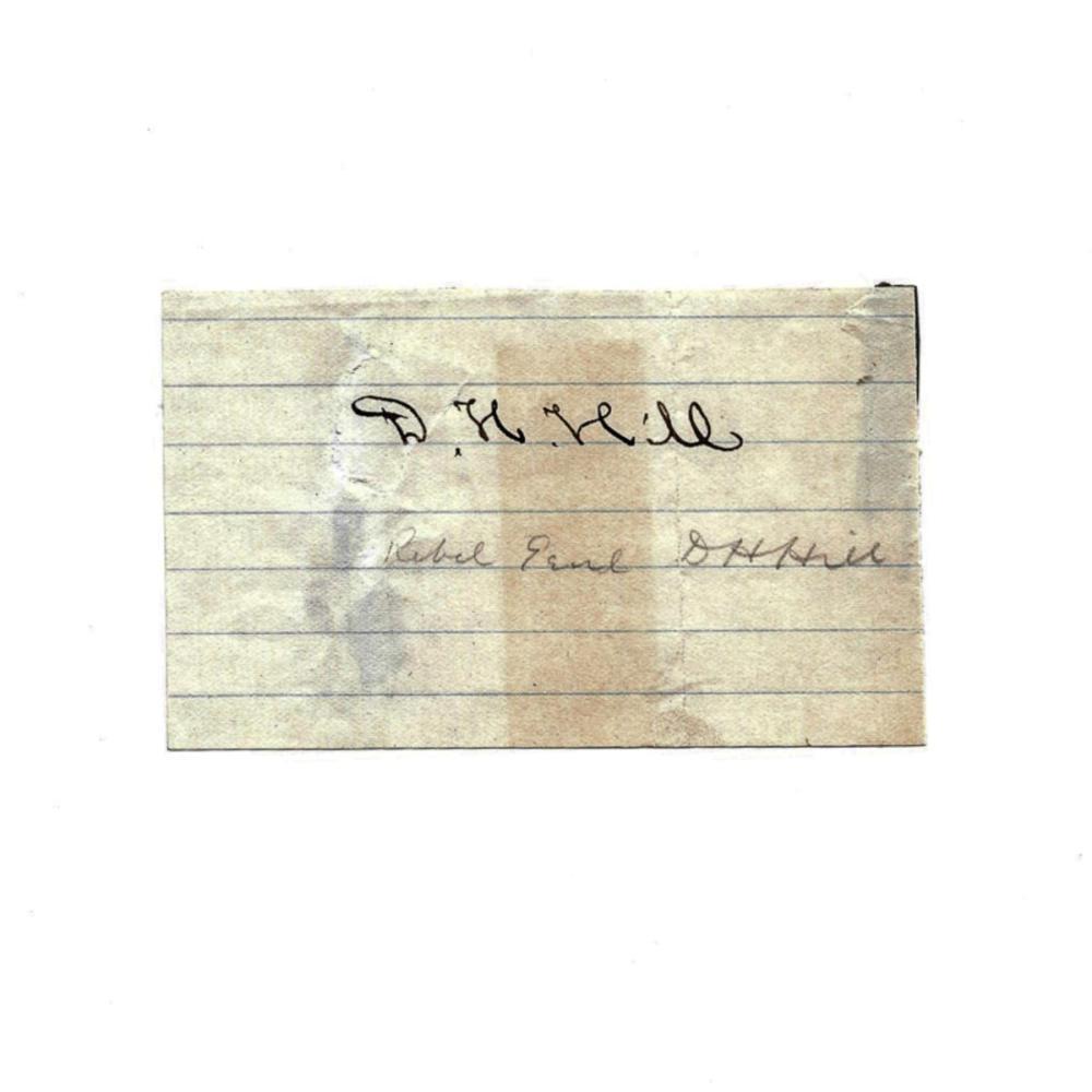 Signature of Confederate General D. H. Hill