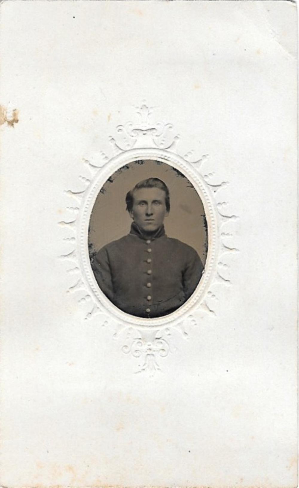 Civil War soldier tintype photograph