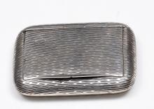 Art Deco Etched European 800 Silver Tobacco Box