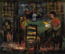 Rare Israel Paldi Oil on Canvas 1930's