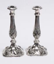 Austrian Silver Candlesticks signed