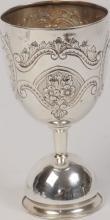 Silver Kiddush Cup, Birmingham England 1945