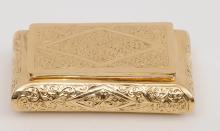 14 Kr. Gold Tobacco Ornamented Box 68.4 gr.