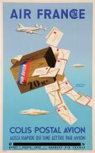 French Poster for Air France by H. Morvan