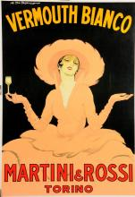 Italian Poster Martini Vermouth Bianco by M. Dudovitch