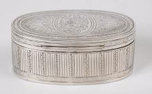 Oval Silver Tobacco Box/Daniel Robertson, Glasgow 1847