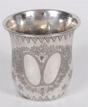 Silver Kiddush Cup Probably Turkish Stamped ca. 1900