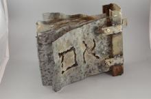Iron Sculpture by JACK JANO (Israel) Shape of a Book Hebrew Inscription