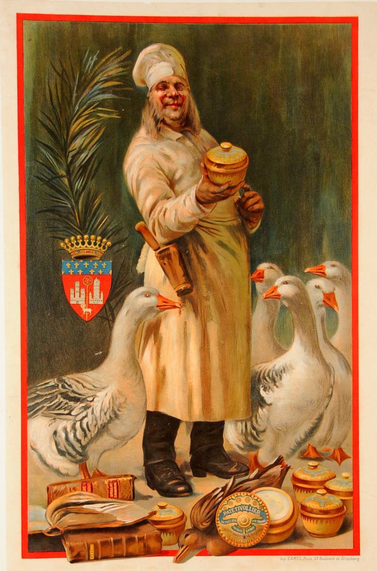 Original French Poster PATE TIVOLLIER  CIRCA 1900