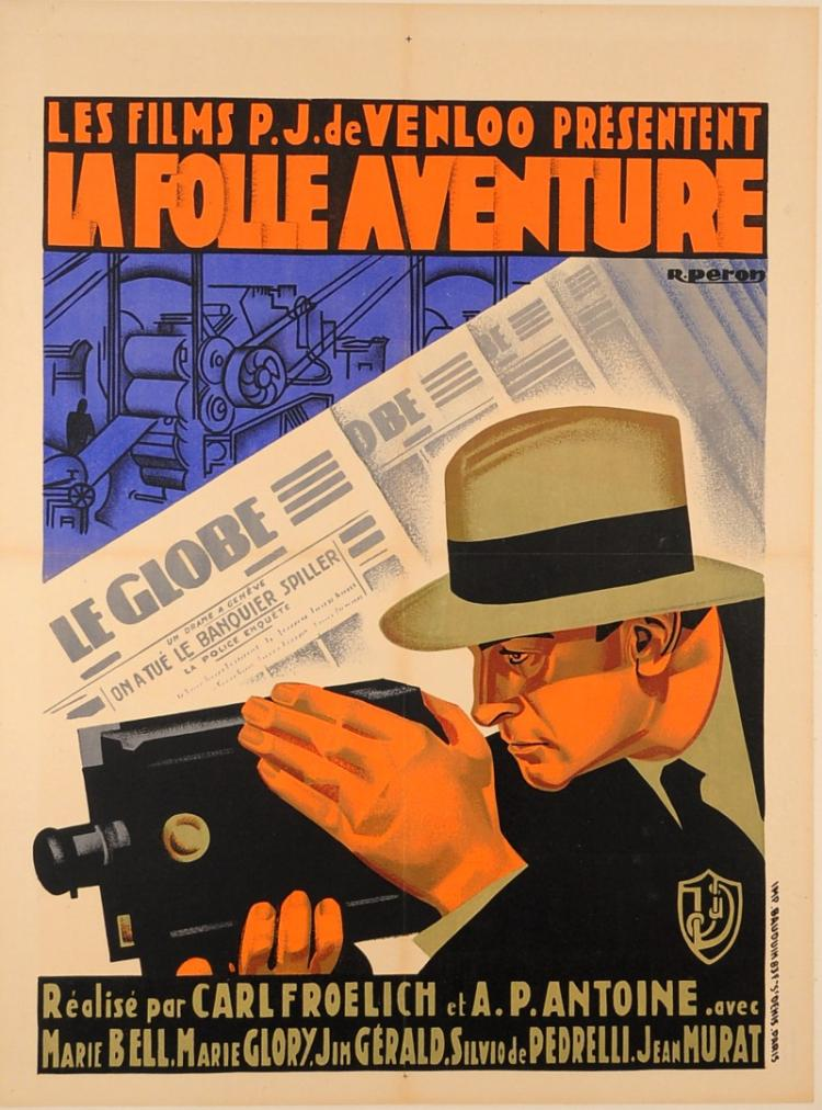 French & German Movie Advertising Poster
