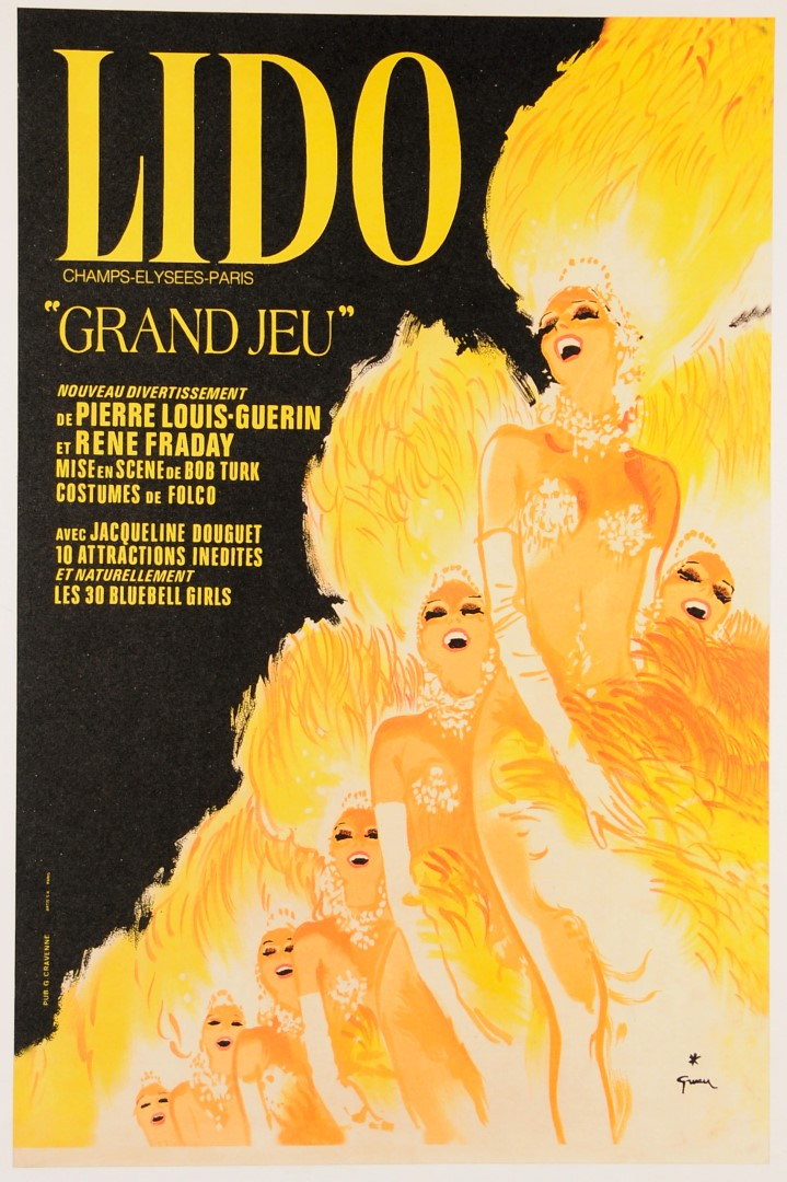 French Poster LIDO Champs- Elysse-Paris