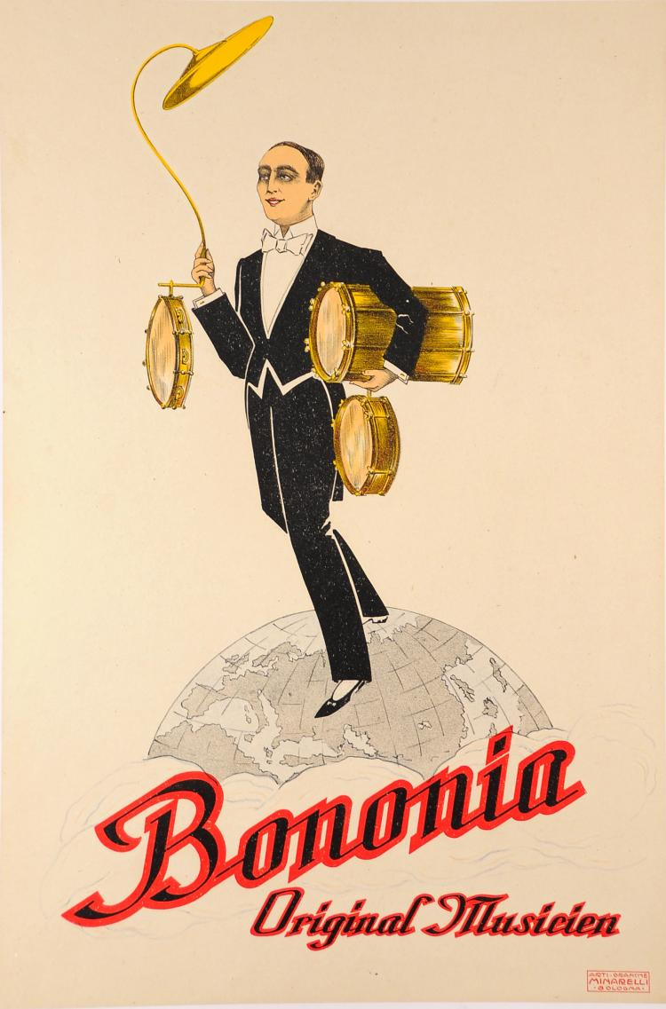 Original Vintage Italian Music Advertising Poster