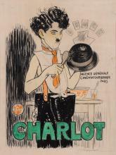 Original  Charlie Chaplin Movie Poster Maquette