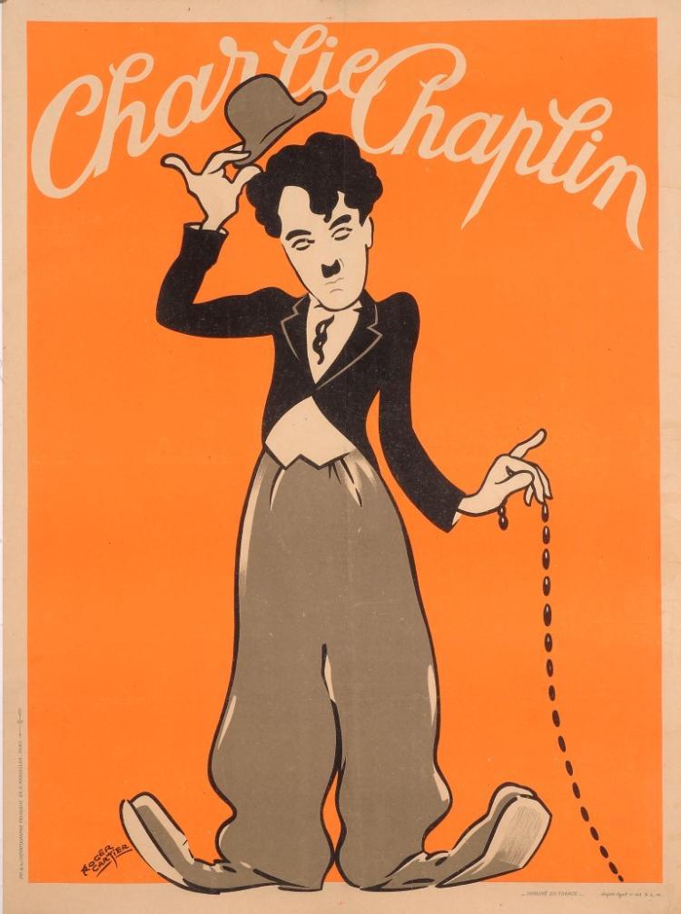 Original  Charlie Chaplin Movie Poster Passe-Partout ca 1947-Rare