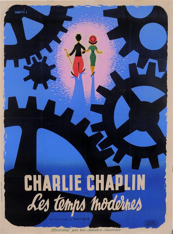 Original Vintage French Movie Chaplin Poster