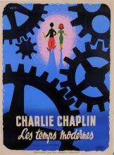 Original Vintage French Movie Chaplin Poster