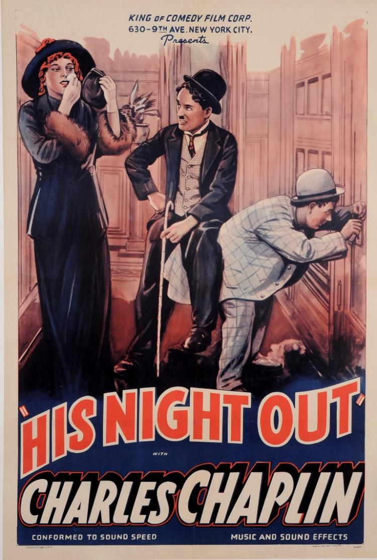 Original Charlie American Charles Chaplin Movie Poster for