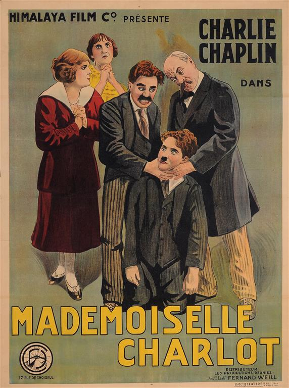 Original Charlie Chaplin French Movie Poster