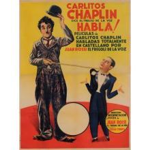 Original Spanish Charlie Chaplin Movie Poster Habla 1946