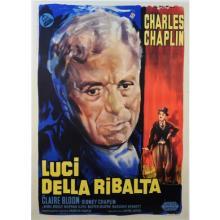 Original Vintage Italian Movie Chaplin Poster